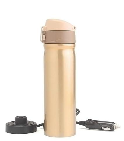 Mengshen Taza de Acero Inoxidable/Calentador Eléctrico para Coche Heating Coffee Cup 12V 400ML Stainless