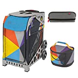 Zuca Sport Bag - Colorblock Party with Gift Lunchbox and Pencil Case(Gray Frame)