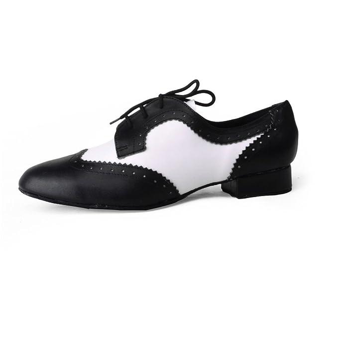 Jig Foo - Zapatillas de Baile Estándar para Hombre, Color Blanco, Talla Talla 46 EU