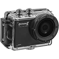 MiGear Extreme X Explorer 1080p Action Camera Bundle with Waterproof Case Black