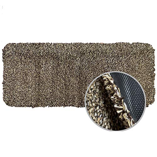 WOMHOPE Ultra-Long Front Doormat Indoor Super Absorbs Mud Doormat Dirt Trapper Rug Low-Profile Shoes Scraper Machine Washable with Anti-Slip Rubber Back (24