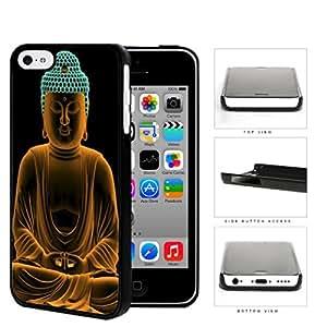 Buddha Statue In Orange Cyan Neon Hard Plastic Snap On Cell Phone Case Apple iPhone 5c