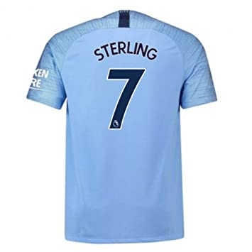 watch d7098 07379 2018-2019 Man City Home Nike Football Soccer T-Shirt Jersey (Raheem  Sterling 7)