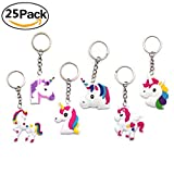 #9: 25Pcs Unicorn Keychains Set Gifts For Kids Adults Children Party Favors