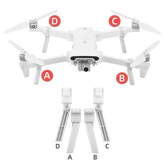 TwoCC-Drone, trípode de chasis + pieza de hélice plegable para ...