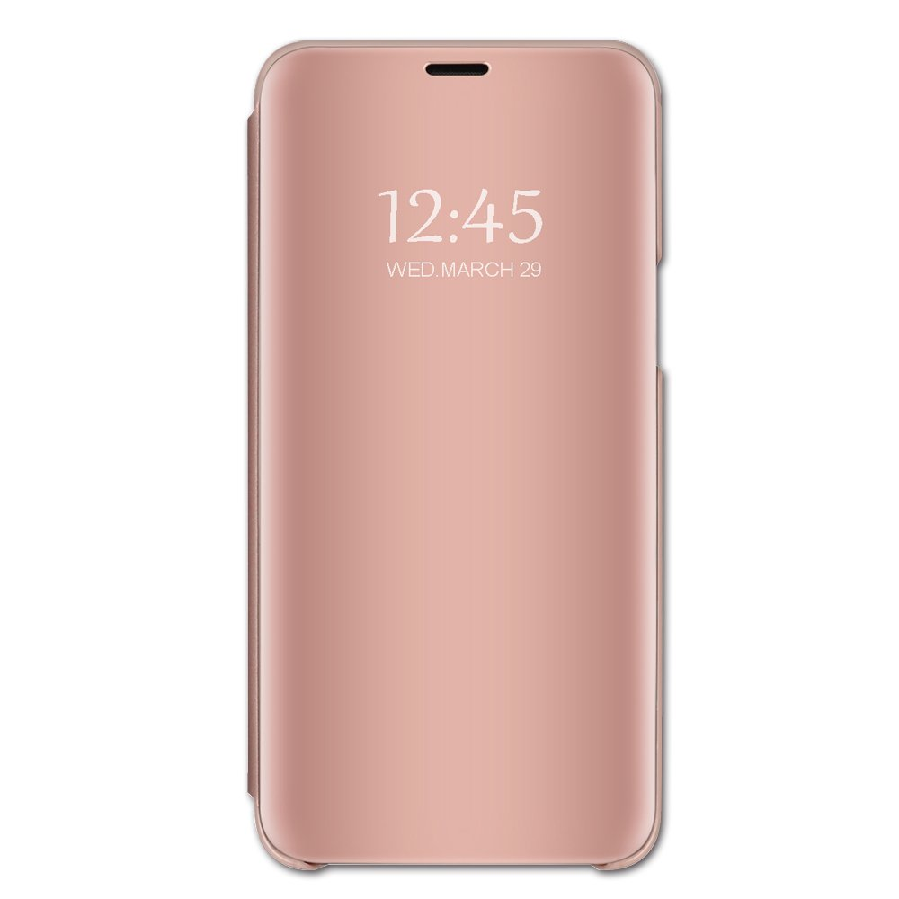 Case Compatible Samsung Note 8, Vertical Flip Smart Mirror Scratchproof Cover for Samsung Note 8 (Samsung Note 8, Pink)