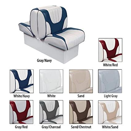 Overtons Deluxe Back-to-Back Lounge Boat Seat with 10 Base