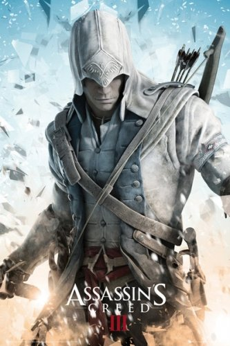 Assassin S Creed Iii Gaming Poster Connor Size 24 X 36