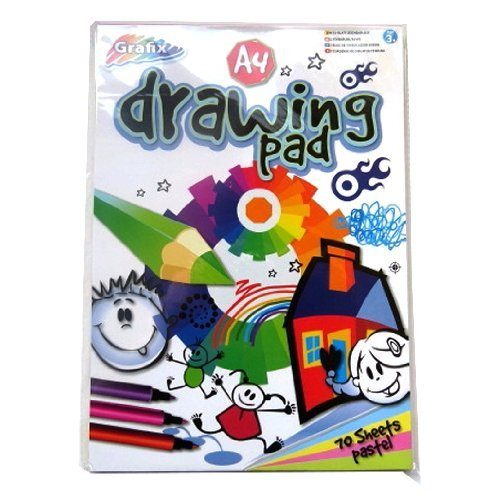 A4 Pastel Drawing Pad - 70 Sheets=140 Pages - Pastel Papers in 5 colours - Size 297mm x 210mm RMS International