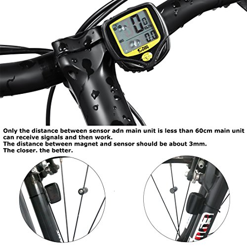 Wireless Bicycle Computer Bicycle Speedometer With Multi
