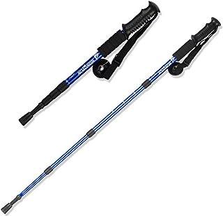 4sections en alliage d'aluminium bâton de marche Alpenstock Voyage Béquilles Alpenstock anti choc bâton Pole