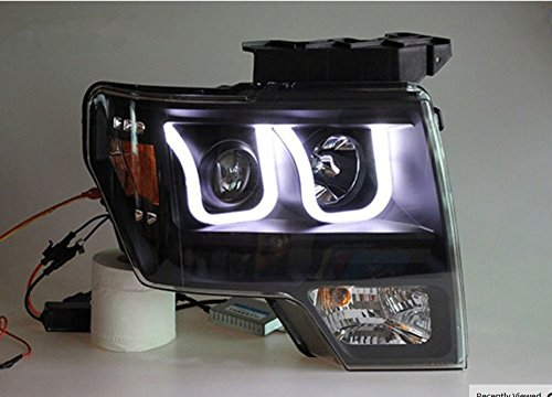 GOWE Car Styling For Ford Raptor headlights 2009-2014 head lamp led DRL front Bi-Xenon Lens Double Beam HID KIT Color Temperature:8000k;Wattage:55w 3