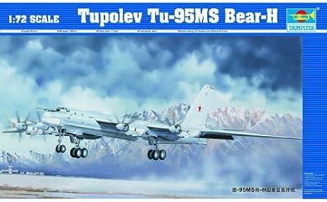 Bear-J TUPOLEV Tu-142MR 1:72 TRUMPETER 01609 Flugzeug Modellbausatz Kit