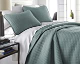 What Are the Dimensions of a California King Southshore Fine Linens - Vilano Springs Oversized  3 Piece Quilt Set, Full / Queen, Steel Blue (Teal)
