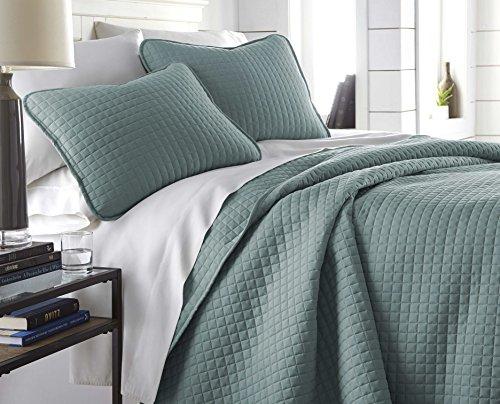 California King Modern Bedroom Set - Southshore Fine Linens - Vilano Springs Oversized 3 Piece Quilt Set, King/California King, Steel Blue (Teal)