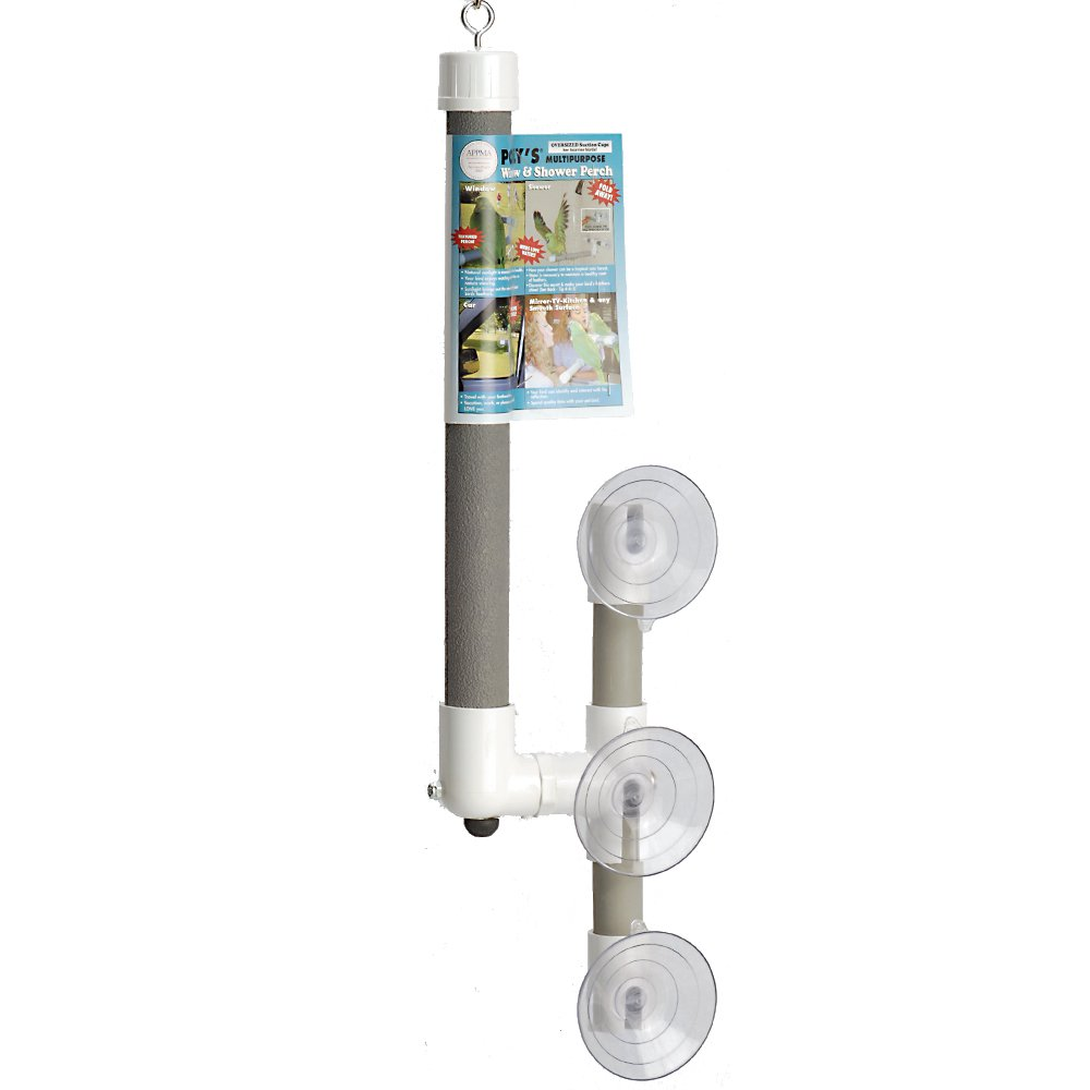 Polly's Deluxe Window and Shower Bird Perch, Large by Polly's