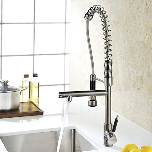Industrial Style Kitchen Faucet: Refin Heavy-Duty Soft Single Handle Pull Down Kitchen