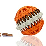 Dog Toy Rubber Ball for Pet IQ Training/Chewing/Tooth Cleaning,Non-Toxic 3.2inch Diameter(Orange)