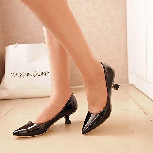 Mee Shoes Damen speziell heels spitz Lack Pumps Schwarz