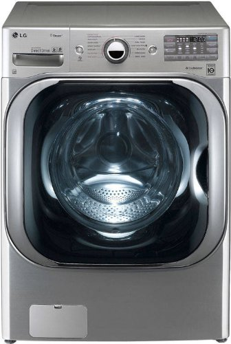 LG WM8000HVA 29-Inch Fa Load Steam Washer with 5.1 Cubic Feet Capacity, Graphite Steel