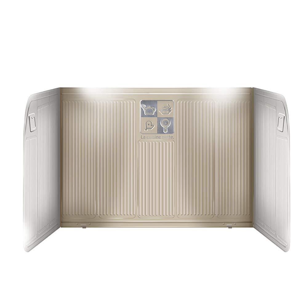 Wxnnx Gas Stove Oil Retaining Plate, Oil-Proof Aluminum Foil Baffle, High Temperatu Reresistance,Foldable,Retractable,Beige by Wxnnx