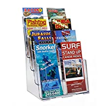 Source One 8 Pocket 4 Tier Clear Acrylic Brochure Holder Organizer Counter Top or Wall Mount …