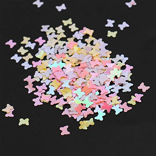 JETEHO 2.1 Oz Multicolor Plastic Shiny Butterfly Wedding Table Confetti fir Home Party Wedding Decor Bridal Shower -