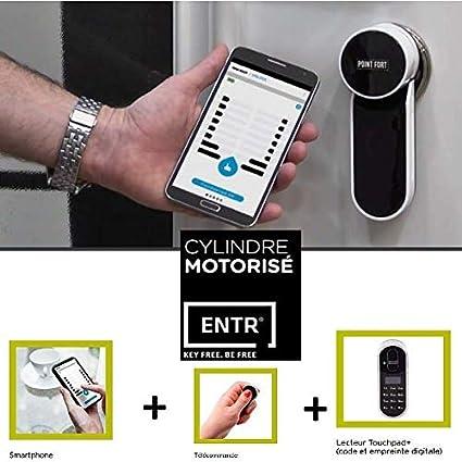 Cerradura motorizada ENTR + lector de huellas dactilares, controla ...