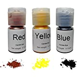 Candle Dye Highly Concentrated Assorted Bottle, 0.2-Ounce, Red, Yellow and Blue, 3/pkg, Each bottle can be made 11 LB Soy Candle Wax