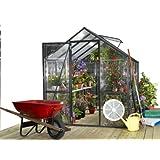STC Easy Grow Greenhouse, Black Frame, 6 by 8-Feet