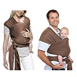 TimberRain Baby Carrier Wrap, Breastfeeding Cover, Suitable for Newborns, Infants & Toddlers, Soft & Comfortable, Perfect Baby Gift, Brown