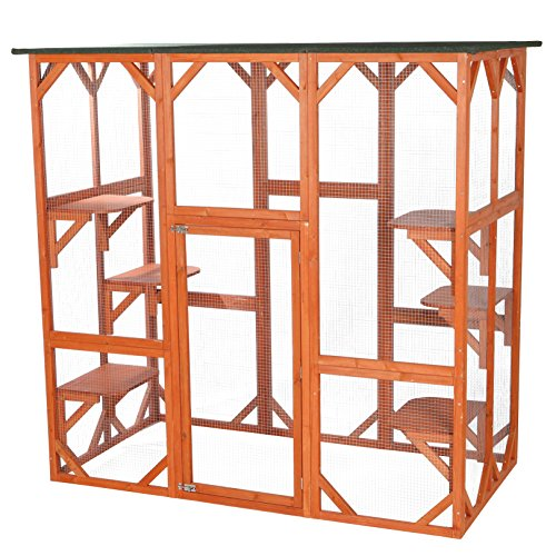Trixie Pet Products Wooden Outdoor Cat Sanctuary -  FBA_44110