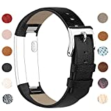 Vancle Fitbit Alta HR Strap/Fitbit Alta Straps, Adjustable Comfortable Replacement Leather Band with Stainless Steel Buckle for Fitbit Alta 2016 / Fitbit Alta HR 2017(No Tracker)