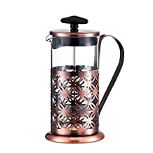 DeFancy 5-Cup Stainless Steel French Press Coffee Maker,20-Ounce,Antique Copper
