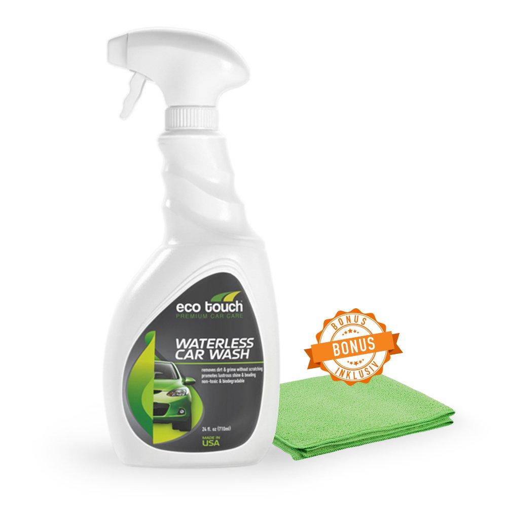 Detergente per auto senza acqua–Waterless Car Wash–Lavaggio a secco con panno di pulizia gratis –Lavaggio a secco bio–lavaggio auto intensivo senza acqua –spray profe