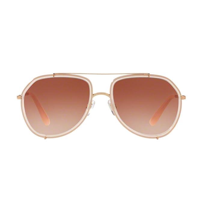 Womens 0DG2161 129813 Sunglasses, Opal Pink/Pink Gold/Pinkgradient, 55 Dolce & Gabbana