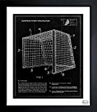 'soccer goal 1983' Vintage Framed Wall Art Print for Home decor & Office. The Sports Wall Decor Blueprint Collection by The Oliver Gal Artist Co. Hand Framed and Ready to Hang. 26x32 inch