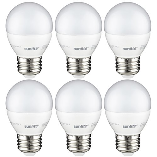 Sunlite G16/LED/7W/D/E26/FR/ES/27K/CD/6PK LED Light Bulb, 60 Equivalent - 6 Pack,
