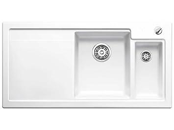 Blanco Axon II 6 S Weiß Auflage Keramik-Spüle Spülbecken Küche ...