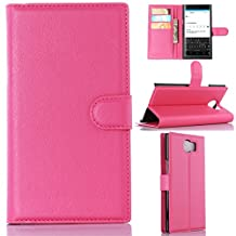 BlackBerry Priv Phone Case, Gift_Source [Rose] [Stand Feature] Magnetic Snap Case Wallet Premium Wallet Case Built-in Card Slots Flip Case Cover Skin for Blackberry PRIV Smartphone 5.4 inch