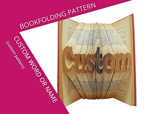 Bookfolding pattern custom word or name - Give an old book a new life in 3 easy steps from Folded Book Art