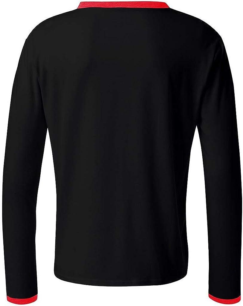 Casual Loose Long-Sleeve T-Shirt Basic Designed Pullover Top Tiandino Mens Long Sleeve Crew Neck Pullover Sweatshirt