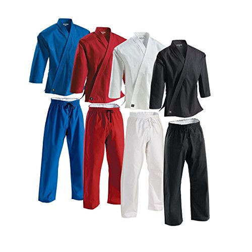 Century Martial Arts 8 oz. Middleweight Brushed Cotton Uniform - Black, 6 - Adult X-Large ()