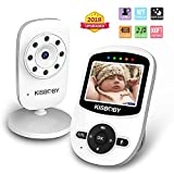 Baby Monitor Wireless Video Camera [Upgraded Version], Kisbaby Night Vision, Two Way Talk 2.4″ LCD Screen, Temperature Monitoring, ECO Power-Saving Mode, Long Range, Lullabies, Elder/Pet Monitor