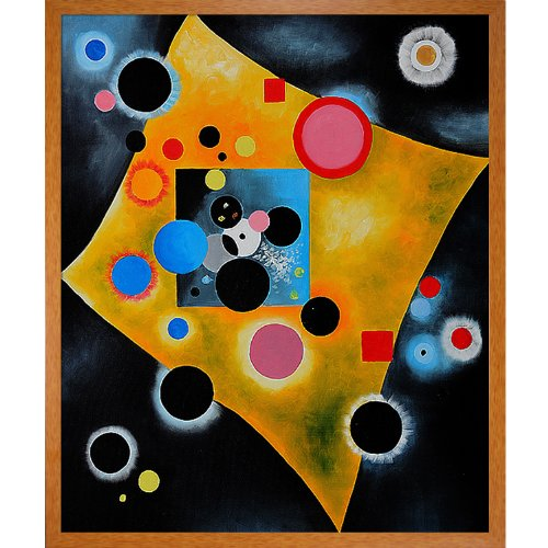 overstockArt Accent en Rose Oil Painting by Kandinsky
