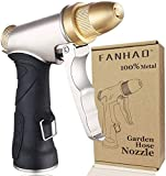 FANHAO Garden Hose Nozzle, 100% Heavy Duty Metal Spray Nozzle High Pressure Water Nozzle with 4 Patterns for Watering…