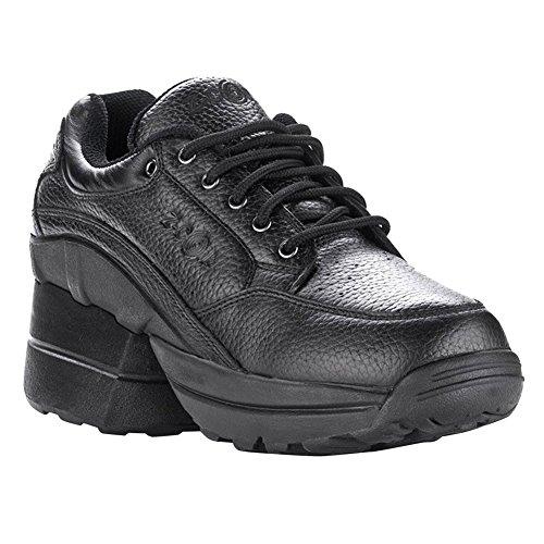 a4d93118e55eef 60%OFF Z-CoiL Pain Relief Footwear Men s Legend Rugged Outsole Enclosed  CoiL Black Leather Tennis Shoe