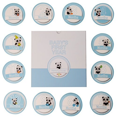 Baby Memory Book - 46 pages & 12 design Monthly Stickers Bab