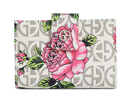 Giani Bernini Floral Print Signature Frame Indexer Wallet ()