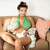 2pcs Ta-Ta Boob Towel, Yourrs Womens Sexy Underwear Soft Sport Towel Adjustable Boob Sweat Towel yoga Nursing Maternity Beach Bra, Easy to Breastfeeding